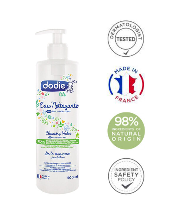 Dodie cleansing water 3 in 1 / Čisticí voda 3 v 1 500 ml