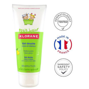 Klorane Junior sprchový gel 2v1 hruška 200 ml