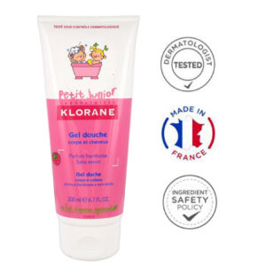 Klorane Junior sprchový gel 2v1 malina 200 ml